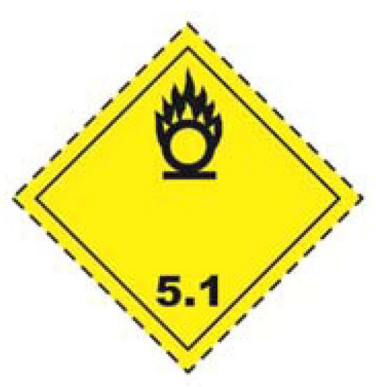 Dangerous Goods Class 5 Oxidizing Substances And Organic Peroxides